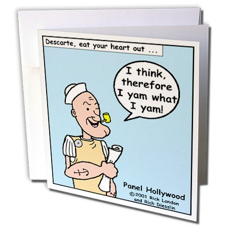 3dRose Popeye The Philosopher - Greeting Cards, 6 x 6