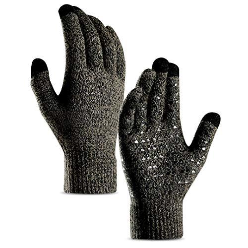 Aotlet Touchscreen Handschuhe Herren Winter Smartphone Winterhandschuhe Herren oder Damen Handschuhe Sport Fitness Reithandschuhe Fahrradhandschuhe Weihnachten Geschenk für Männer Frauen