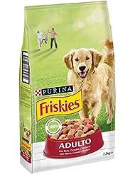 Friskies Cane Crocchette Adulto con Manzo, Cereali e Verdure Aggiunte, 7.5 kg