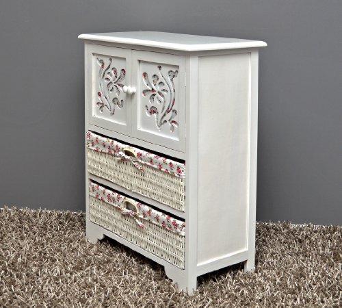Country House Dresser disimpegno mobiletto del bagno 60 x 73 cm Mensola credenza con legno decorazione intaglio - 4