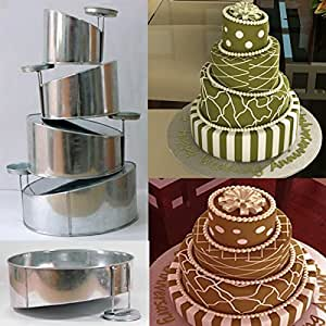 4 tier wedding cake pan sizes tins 4 backformen topsy turvy rund f r mehrst ckige 10401