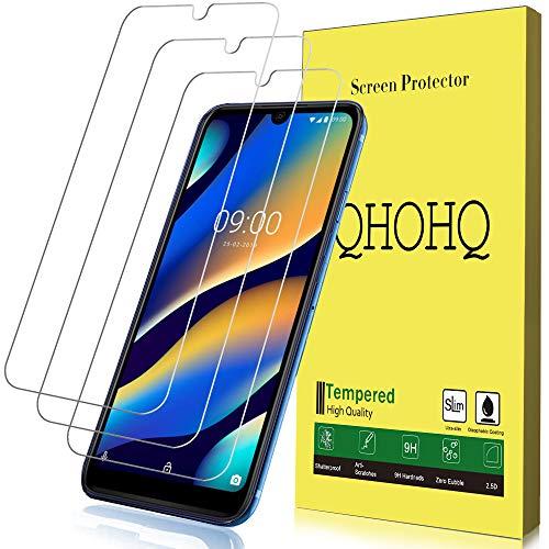 Qhohq vetro temperato per wiko view 3 lite, [3 pezzi] [garanzia a vita] [durezza 9h] alta definizione ultrasottile pellicola protettiva per wiko view 3 lite