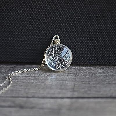 Kabbalah Arbre de La Vie Vraie Fleur Verre Argent Sterling 925 Colliers avec pendentifs