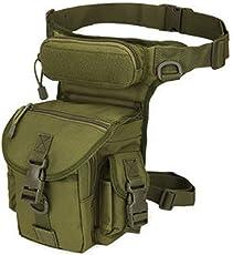 SUPEWOLD Militär-Tasche, Taktische Beintasche, Mehrzweck-Hüfttasche für den Außenbereich, Steampunk-Geldbörse