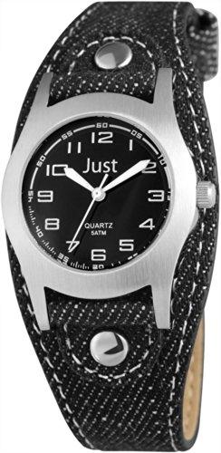 Just Watches - Orologio da polso, analogico al quarzo, tessuto, Unisex