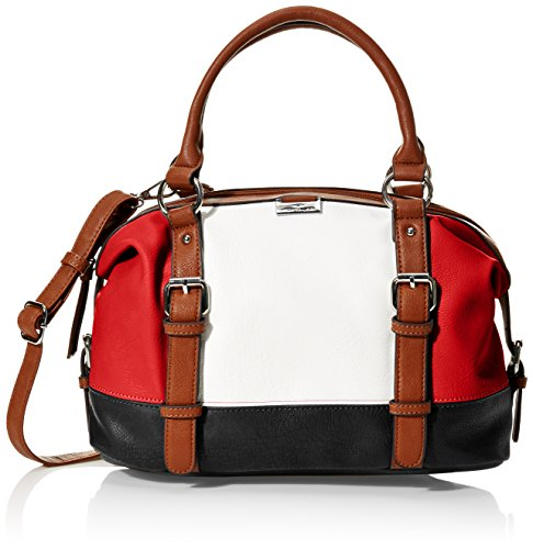 Tom Tailor Acc Damen Juna Schultertasche, 14 x 19 x 35 cm Mehrfarbig (Rot)