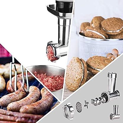 Kchenmaschine-1200W-3-in-1-Elektrischer-maschine-mit-50-Liter-Schssel-in-Lebensmittelqualitt-Rhraufstzen-Fleischwolf-und-Mixer-5-Geschwindigkeiten-mit-Impulsfunktion-Hellblau