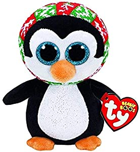 Ty-ty36853-Peluche Beanie Boos-Penelope el pingüino, 60cm