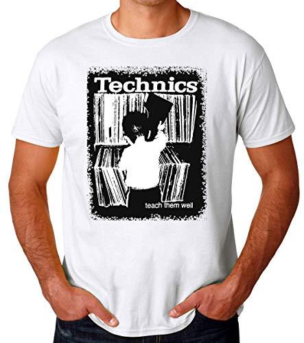Preisvergleich Produktbild Technics Turntable Teach Them Well Vinyl Records Männer T-Shirt Large