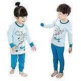 Enfants Toddler Pyjamas Set Tops + Pantalons Garçons Filles Vêtements de nuit Homewear 2pcs Pyjamas Pyjamas en coton Vêtements de nuit pyjama Tenues à manches longues 130cm Kootk