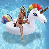 Pool Einhorn - Aufblasbare Pool Spielzeug, Einhorn Pool Aufblasbar, Pool Schwimmen, Pool Floß Umweltfreundlich PVC Aufblasbarer Schwebebett mit Speziellen Schnell Ventilen für Kinder / Erwachsene (Einhorn)