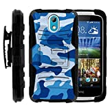 HTC Desire 526 Case, HTC Desire 526 Holster, Two Layer Hybrid Armor Hard