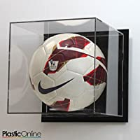 Plastic Online Ltd Football Display Case Wall Mounted - Black