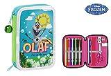 Frozen Federmäppchen, doppelt, Design Olaf, 34-teilig, 13x 20cm (Safta 411514054)