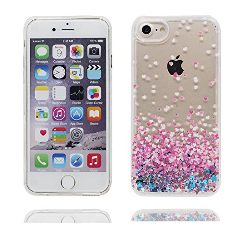 """iPhone 6S Coque, Skin Hard Clear étui iPhone 6 / 6S, Umbrella Fille- Design Glitter Bling Sparkles Shinny Flowing iPhone 6 Case Shell 4.7"""", Apple iPhone 6S Cover 4.7"""", résistant aux chocs # 7"""