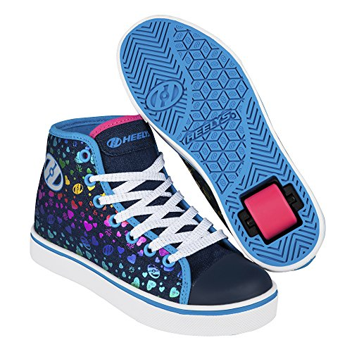 Heelys Veloz, Baskets Hautes Fille Bleu (Denim / Multi Hearts)