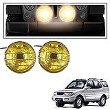 #10: Vheelocityin 2pc 55 Watt Yellow Fog Light Lamp Auxiliary Light Halogen Car Light Flood Beam for Tata Safari