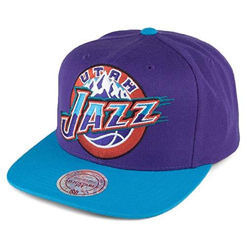 Mitchell & Ness Utah Jazz Snapback Cap - XL Logo 2 Tone - Lila-Blau - Einstellbar (Jazz Utah Logo)