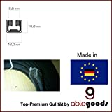 Guía de carril de terciopelo, ventana, ventanas, perfil Guía 10x 12mm pequeño goma Perfil Artificial Flocked Rubber perfiles
