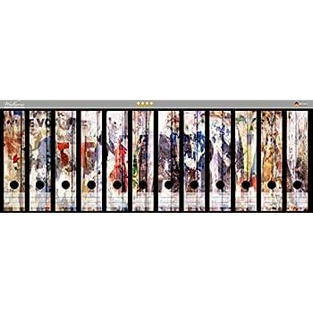 File Art 4 Design Ordner-Etiketten Tukane..................................USB04