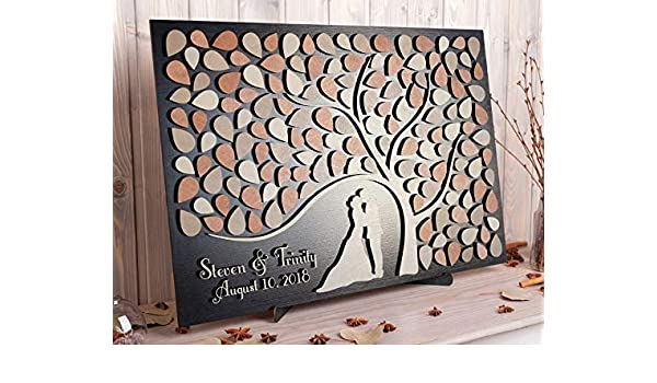 Wood Guestbook CARVED Wedding Guest Book Alternative Personalized Guestbook Country Guestbook Wedding Gift Wood Sign Rustic Guestbook