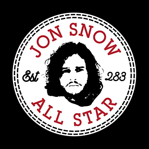 Game Of Thrones Jon Snow All Star Converse Logo Women's Vest Black