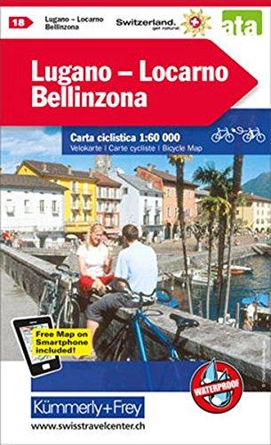 Lugano / Locarno / Bellinzona cycle map 2017 por Hallwag Kümmerly+Frey