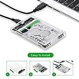 Festplattengehäuse,2.5-Zoll professionelles Festplattengehäuse USB 3.0 und USB 3.1 TYP C 2,5-Zoll-HDD-SSD Festplattenlaufwerk Gehäuse Festplatte External Case Cover Box (Weiß)