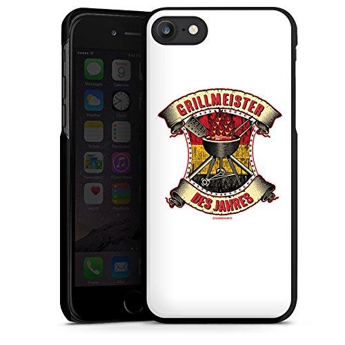 Apple iPhone X Silikon Hülle Case Schutzhülle BBQ Grillmeister Grillsaison Sommer Hard Case schwarz