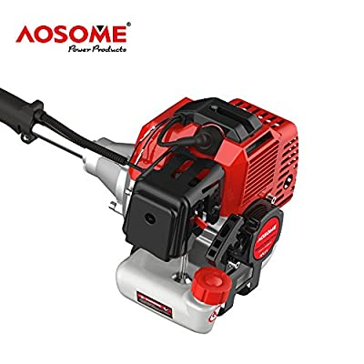 AOSOME 52cc Multi Garden Tool 5 in 1 Petrol Brush Cutter, Grass Trimmer, Long Reach Chain Saw, Hedge Trimmer&Extension Pole 2.2 KW/3HP