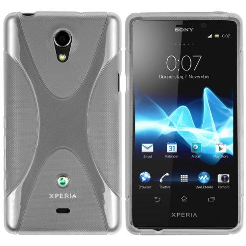 mumbi X-TPU Schutzhülle Sony Xperia T Hülle transparent weiß