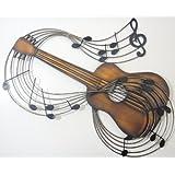 Nuevo - cuadro decorativo de Metal Figura decorativa Decor – Guitarra Clásica Bronce