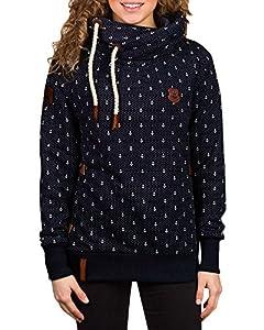 ZANZEA Winter Damen Hoodies Pullover Langarm Jacke Top Sweatshirt Pullover Tops Jumper (EU 52, Dunkelblau#)