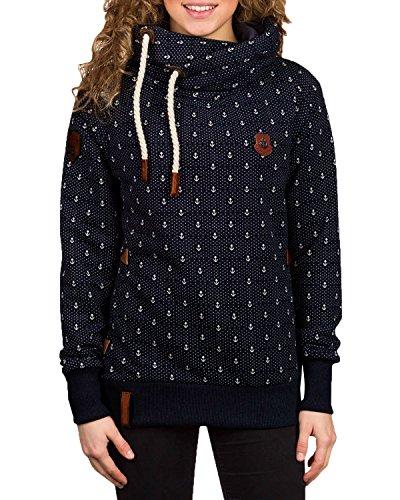 ZANZEA Winter Damen Hoodies Pullover Langarm Jacke Top Sweatshirt Pullover Tops Jumper (EU 42, Dunkelblau#)