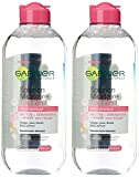 Garnier Skin Active Solution Micellaire Tout En 1 Peaux Sensibles Grand Format 400 ml - Lot de 2