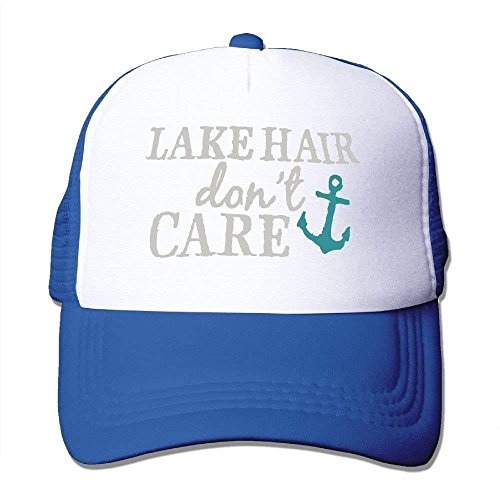 - Lake Hair Don't Care - Adjustable Mesh Hat la Cap ()