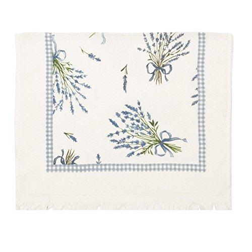 CREAFLOR HOME Handtuch, Geschirrtuch 6er Set Lavendel, weiß blau, 40x60cm - Lavendel Geschirrtücher