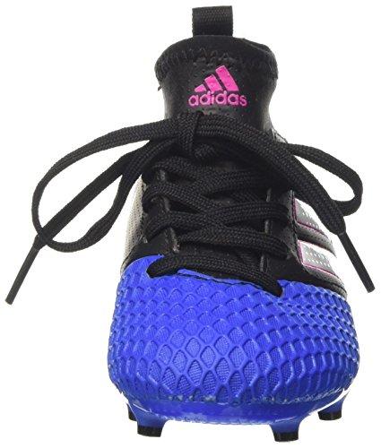 adidas Ace 17.3 Fg J, Scarpe da Calcio Unisex-Bambini Nero (Core Black / Ftwr White / Blue)
