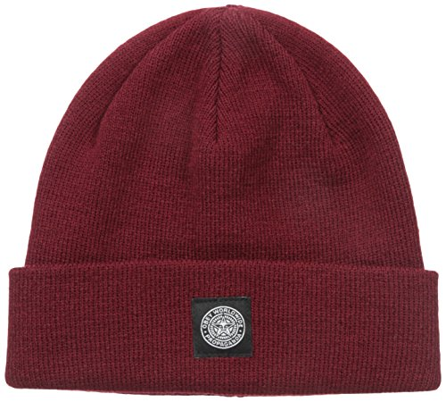 Obey - Cappello Worldwide Seal Beanie - Burgundy - Taglia Unica
