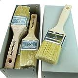 ROTIX-915x 6 x Flachpinsel Lackier-Pinsel 50 mm | 6er-Pack | 6. Stärke 50 mm | für Maler (helle Borste)