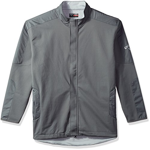 Callaway Men's Big & Tall Opti-Therm Long Sleeve Wind & Water-Resistant Soft Shell Jacket