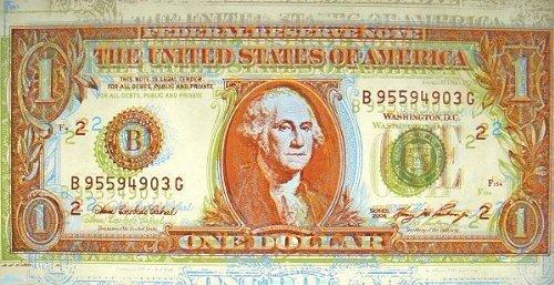 Fertig-Bild - Dustin Chambers: Dollar Bill 50 x 100 cm