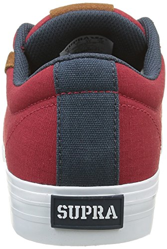 Supra Herren Stacks Vulc II Sneakers Rot (RED / NAVY - WHITE 649)
