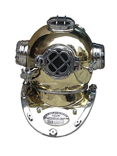 Aluminium Tauchen Taucher Helm US Navy Mark (Diver Kostüm Sea)