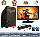 #9: Rolltop Assembled Desktop Computer | Core 2 Duo 2.9 Ghz Processor | G 31 Motherboard |15.6 inch LED Monitor | 2 GB RAM | 250 GB Hard Disk | Keyboard & Mouse | Free Wi Fi Adaptor | Windows 7 & MS Office Trial Version (Speaker)