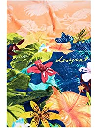 Desigual TOWEL SHOWER_ SAUVAGE Serviette de douche rectangulaire Coton Orange 95 x 150 cm