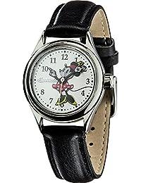 Disney by Ingersoll 26526 - Reloj de cuarzo, con correa de poli piel, color negro con diseño de Minie