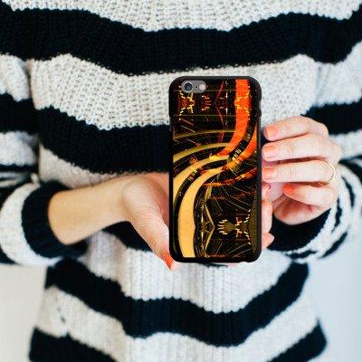 Apple iPhone 6 Housse Étui Silicone Coque Protection Berlin lumières Collage Photographie CasDur noir