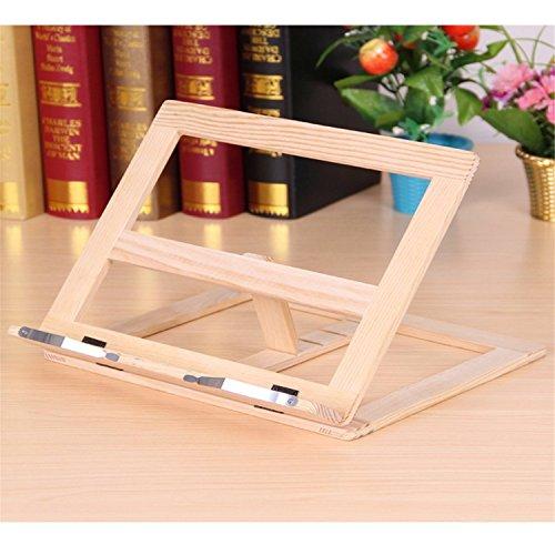 Klavier Holz Ständer (ECYC® Verstellbarer Bücherregal PC-Stützwinkel aus Holz)
