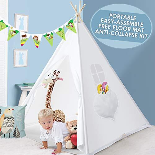 Peradix Tiendas de campaña para niños,Grande De Juego para Tipi Indio Tipi...